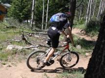 geiler Moment: flowiger Trail in Jasper & Pferdekacks ausgewichen (2010) ;-) (arx)
