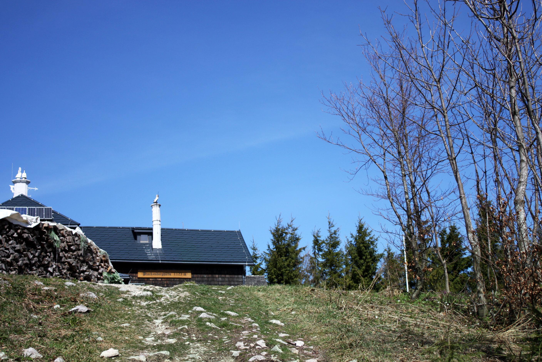 erster Blick auf die Hütte