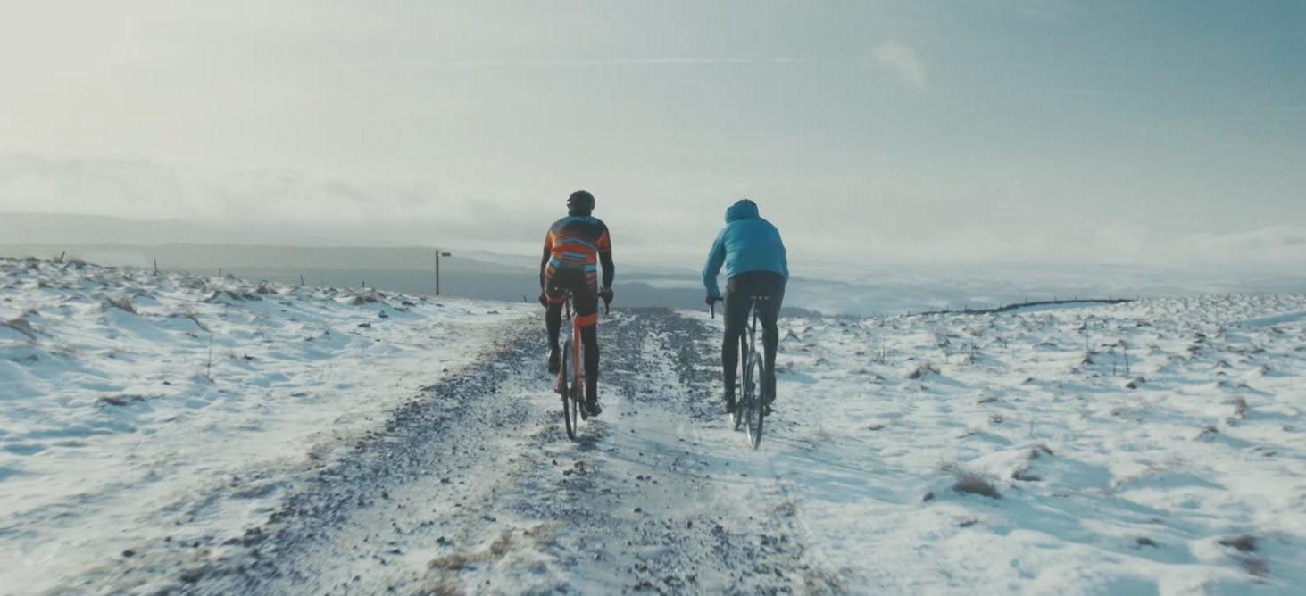 Peaty beim Winterradln (Stanta Cruz Stigmata)